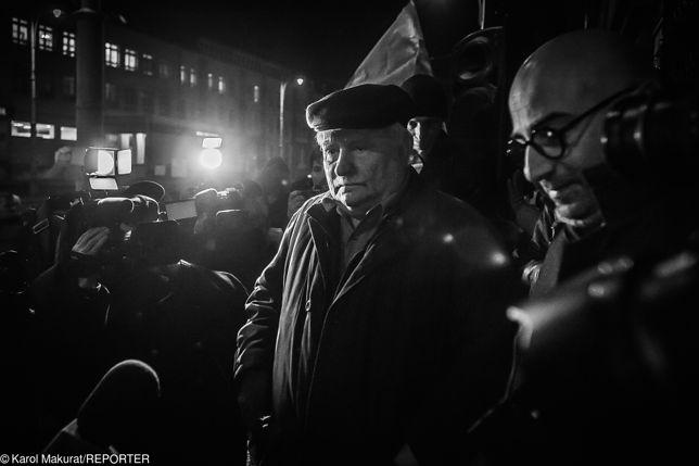Wałęsa na manifestacji Wolne Sądy