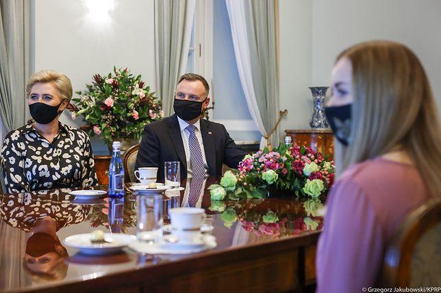 Andrzej i Agata Dudowie w Pałacu Prezydenckim (zdj. arch.)