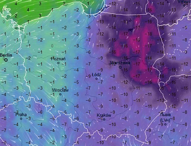 W nocy na Podlasiu temperatura może spaść nawet do -18 st. C
