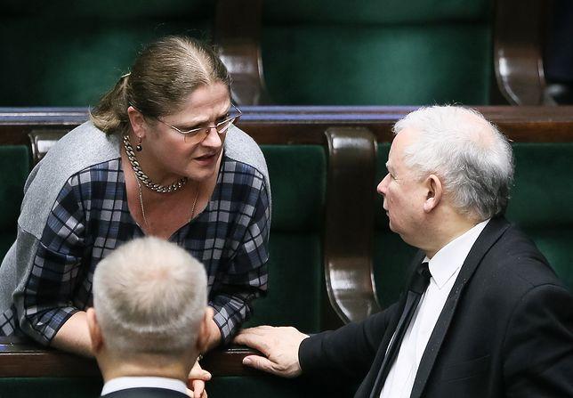 Krystyna Pawłowicz i Jarosław Kaczyński w Sejmie, 2016 r.