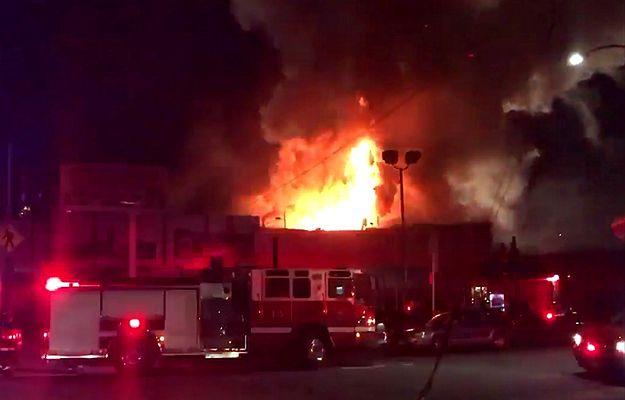 Pożar w Oakland w USA