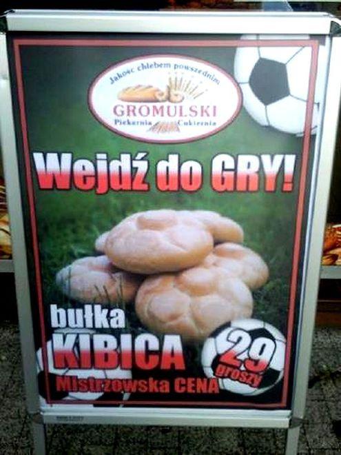 Humor warszawski: bułka kibica