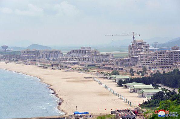 Kompleks turystyczny w mieście Wonsan budowany jest na wzór hiszpańskiego Benidormu