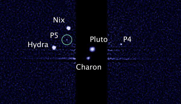 P5 na zdjęciach wykonanych przez teleskop Hubble'a