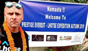 Rafał Fronia w trakcie ekspedycji na Lhotse w 2019 r.