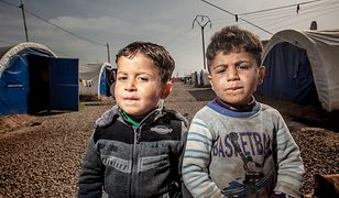 Dzieci w obozie al Khazer w Iraku
