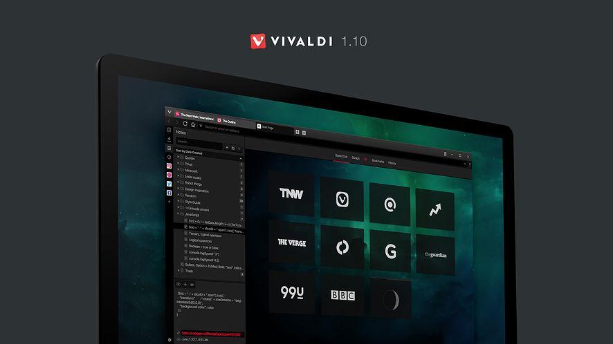 Vivaldi 1.10 dostępny: nowości dla deweloperów i w szybkim wybieraniu
