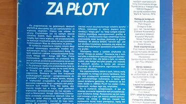 Sentymentalnie — Amiga Magazyn numer 1 - Pierwszy wstępniak Marka Pampucha