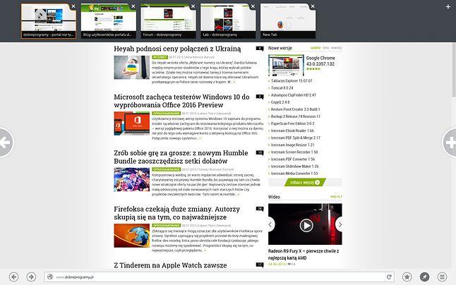 Archiwalny Firefox 28 Beta z interfejsem Modern