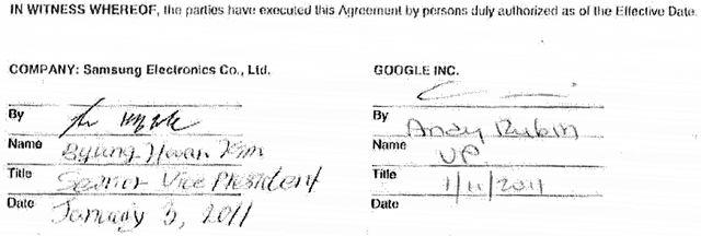 Umowa między Samsungiem i Google