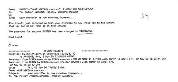 Mając działającego VAX-a można już było się komunikować ze światem (źródło: popul.ifj.edu.pl)