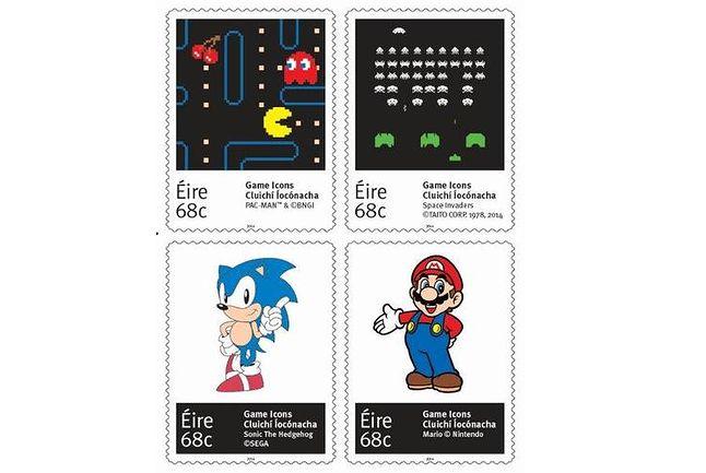 Mario, Pac-Man i Sonic na zagranicznych znaczkach.