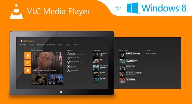 Koncept VLC na Windows Modern(autor: MetroUX)