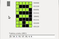 Malinowy wyświetlacz, a polske szlaczki - 0x00, 0x0E, 0x01, 0x0F, 0x11, 0x0F, 0x04, 0x06
