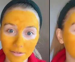 Maseczka na twarzy miała pomóc jej skórze. Efekt był odwrotny