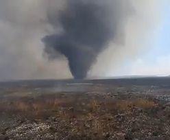 Pożar nadal szaleje w Biebrzańskim Parku Narodowym. Pojawiły się wiry ognia