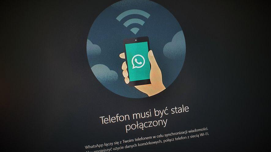 WhatsApp oferuje ciemny motyw na desktopach, fot. Oskar Ziomek
