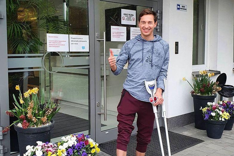 """""""Ale bestia"""". Kamil Stoch pokazał, jakiego ma rehabilitanta"""