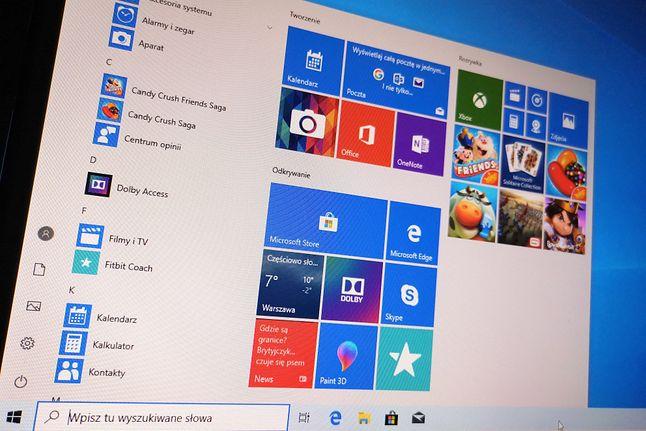 Majowa aktualizacja to między innymi możliwość włączenia jasnych kolorów menu start.