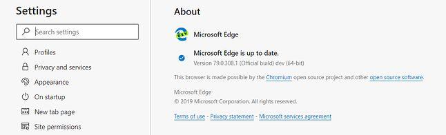 Zaktualizowany Edge Dev.