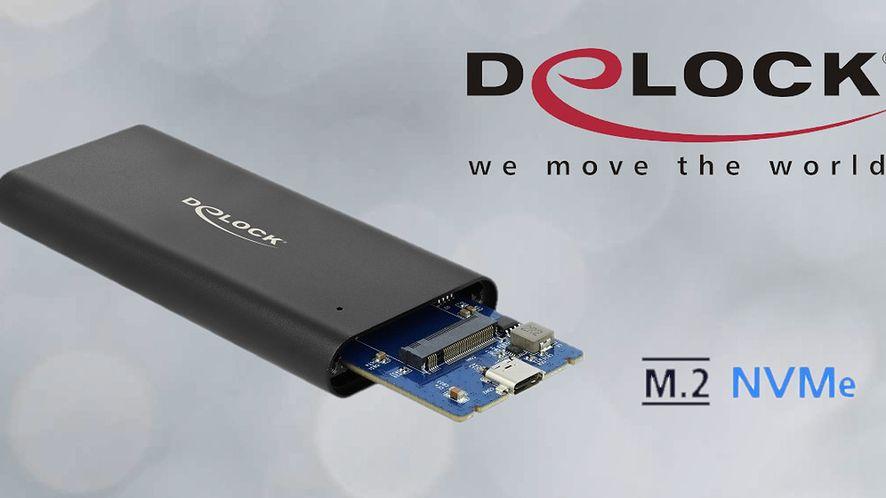 Obudowa Delock. SSD M.2 NVMe PCIe - szybko i bez rozkręcania PC