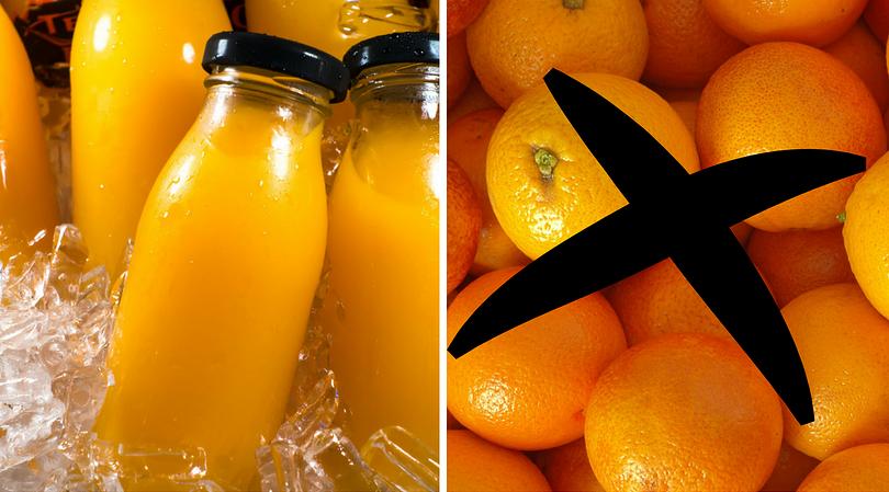 Skład soków pomarańczowych