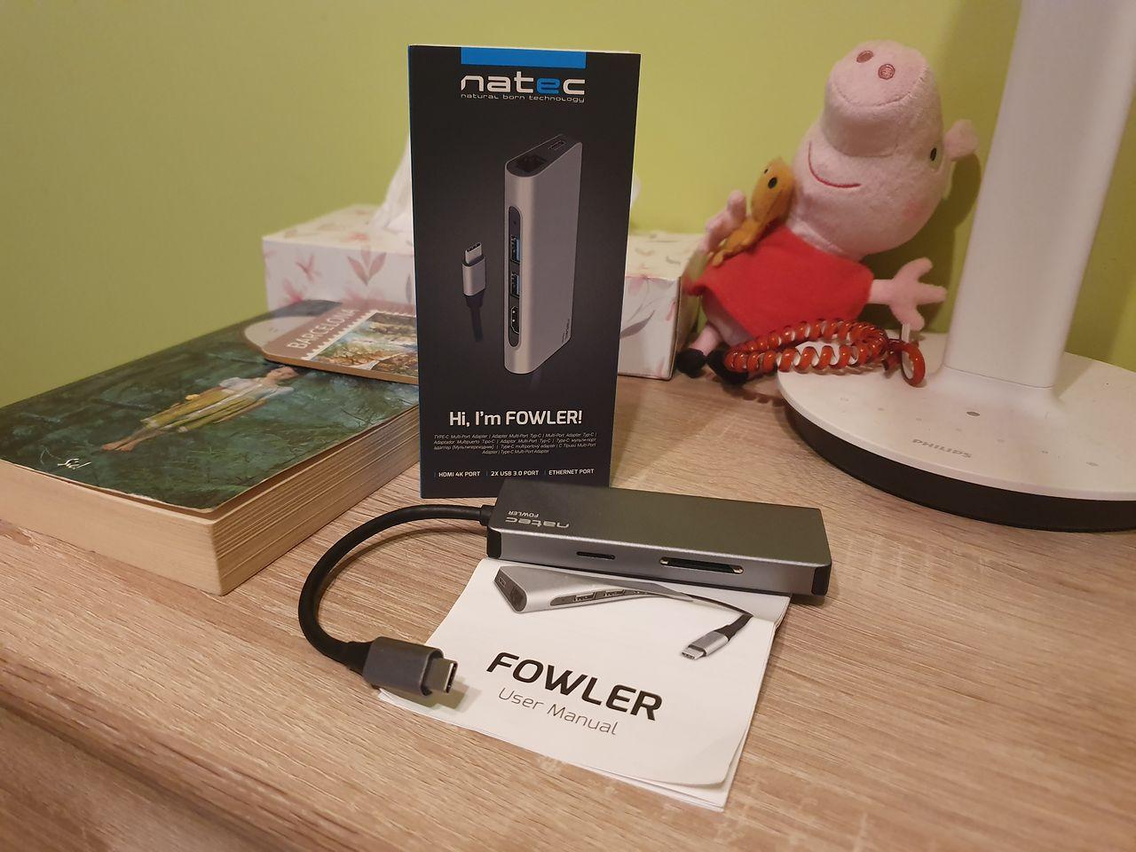 Natec Fowler — minimalistyczny adapter na USB-C