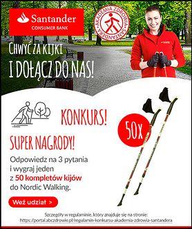 Weź udział w konkursie i wygraj jeden z 50 zestawów kijków do nordic walking!