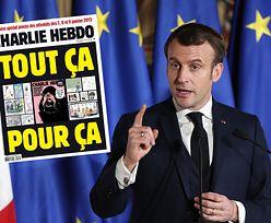 """Charlie Hebdo"" znowu publikuje karykatury Mahometa. Komentarz Macrona"