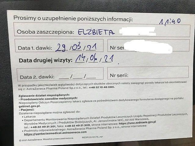 Karta szczepienia