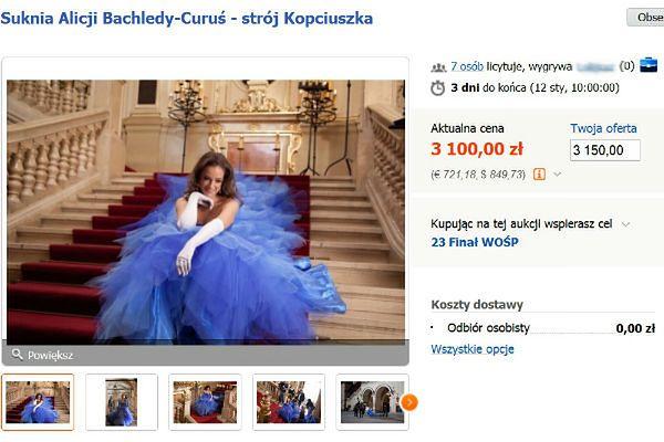 Krakowskie aukcje na finał WOŚP. Suknia Kopciuszka może być Twoja!
