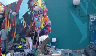 Czterometrowy Piłsudski na Patelni. Nowy, niesamowity mural [GALERIA]