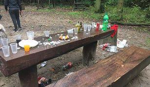 Śmietnisko w lesie. Tak bawią się mieszkańcy stolicy