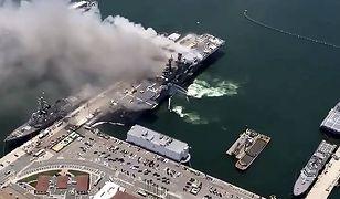 USA: Wybuch i pożar na okręcie wojennym. Ponad 20 rannych