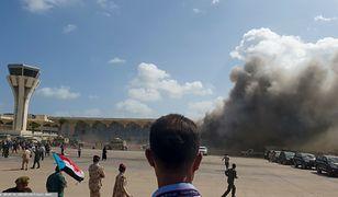Jemen. Aden. Potężna eksplozja na lotnisku, są zabici i ranni