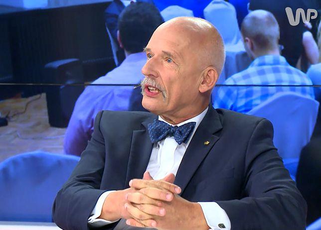 Wyrok w głośnej sprawie. Janusz Korwin-Mikke musi zapłacić 20 tys. zł za uderzenie posła PO
