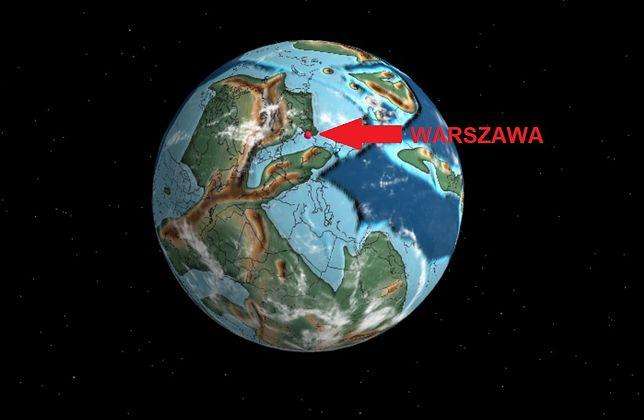 Interaktywna mapa Ancient Earth Globe