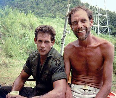 "Michael Dudikoff i Sam Firstenberg na planie filmu ""Amerykański ninja"""