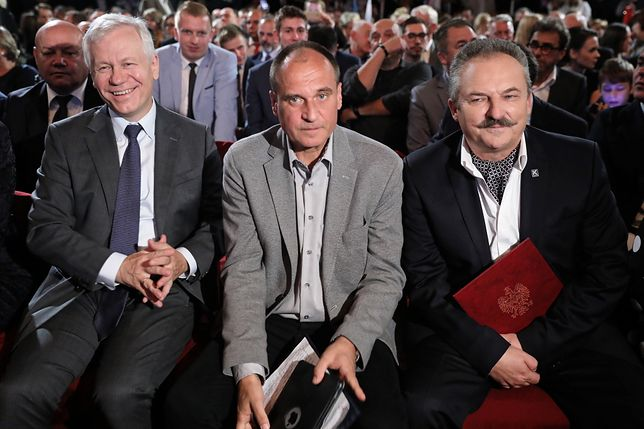 Od lewej: Marek Jurek, Paweł Kukiz i Marek Jakubiak