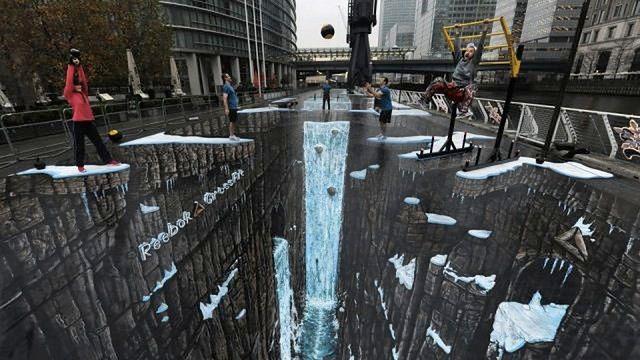 Niezwykłe trójwymiarowe dzieło sztuki