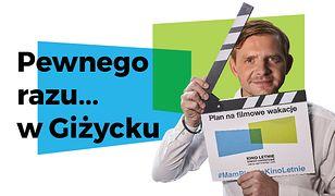 Kino Letnie i spotkanie z Rafałem Zawieruchą. Aktor zaprasza do Giżycka