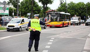 Warszawa. Kolejny wypadek z udziałem kierowcy autobusu. Jest reakcja policji