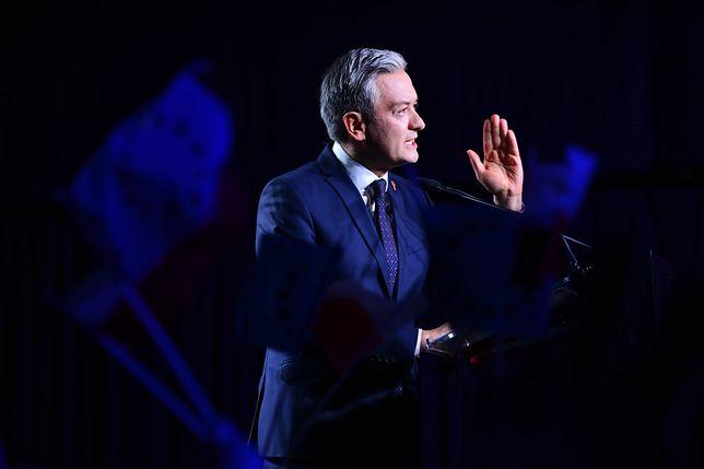 Wybory do Parlamentu Europejskiego 2019. Robert Biedroń na konwencji Wiosny w Warszawie