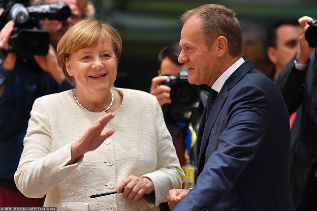 Kanclerz Niemiec Angela Merkel z Donaldem Tuskiem