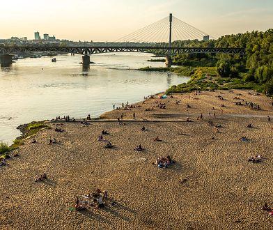 Warszawa. Plaża nad Wisłą