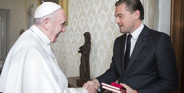 Leonardo DiCaprio na audiencji u papieża Franciszka
