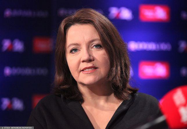 Posłanka PiS Joanna Lichocka w studiu TVP