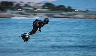 Flyboard Franky'ego Zapaty wpadł do kanału La Manche
