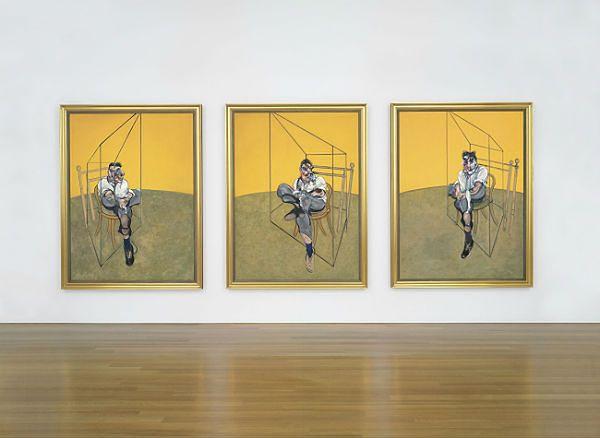 "Obraz Francisa Bacona ""Trzy studia do portretu Luciana Freuda"""