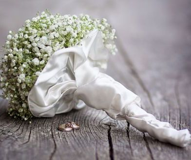 Kwiaty ogrodowe na ślub...